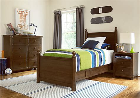 4 Post Bedroom Sets | boulder 4 pc twin post bedroom bedroom sets
