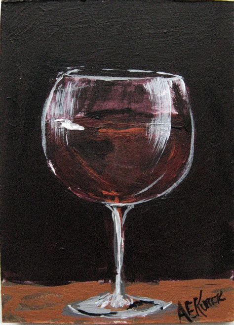 wine glass painting wine painting focusing on the of