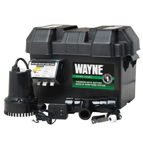 wayne 1 4 hp 12 volt battery backup sump system