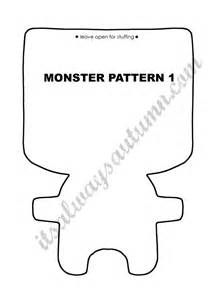 template mosnter free easy sewing pattern for felt dolls