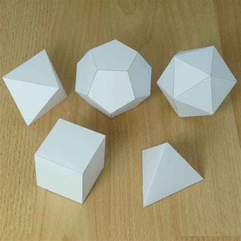 How To Make A Shaped Paper - a site that has every 3d shape imaginable as a pdf so your