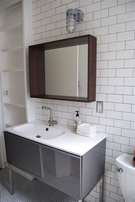 bathroom with subway tiles subway tile modern bathroom pinterest