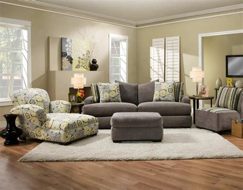 chelsea home furniture pansy sofa set yellowgray