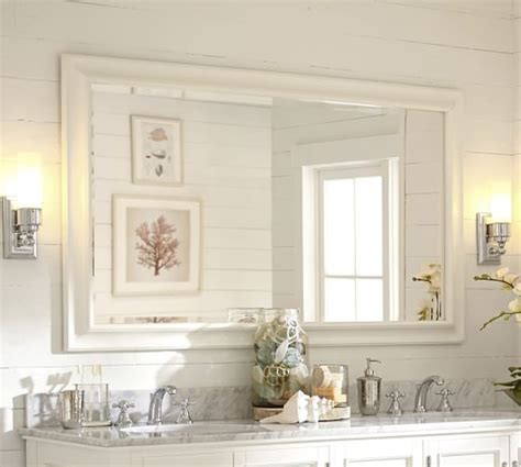 double wide bathroom mirror sonoma double width mirror pottery barn