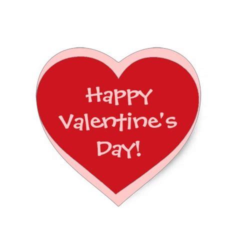 valentines day stickers happy s day pink stickers zazzle