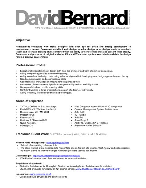 Graphic Design Resume Exles by 13309 Resume Logo Exles Completed Resume Exles 28 Images