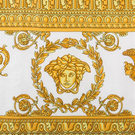 Versace Gold And Multi Colored Print Bag by Buy Versace Barocco Robe Towel White Gold Amara