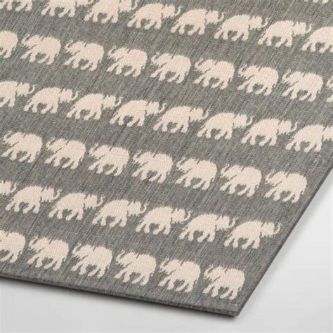 Elephant Outdoor Rug Silver Elephants Terrace Indoor Outdoor Area Rug World Market