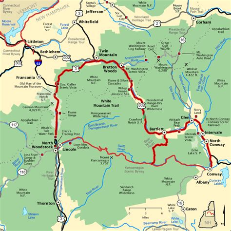 Americas Byways by White Mountain Trail Map America S Byways
