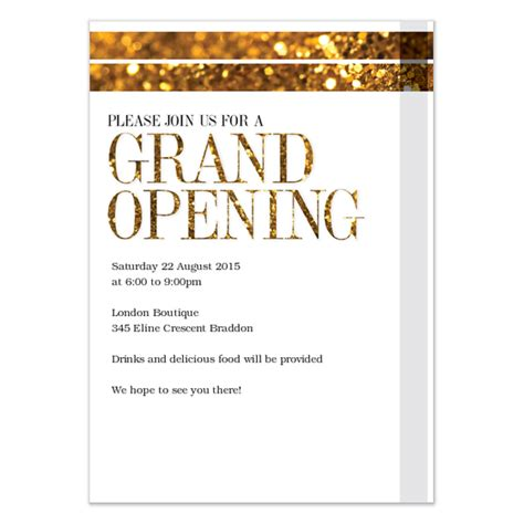 Opening Letter For Event Grand Opening Invitations Cards On Pingg