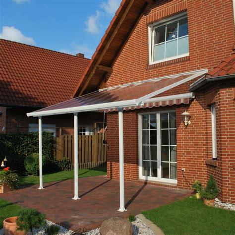 aluminium überdachung terrasse pergola toit terrasse aluminium et polycarbonate 4x3 m