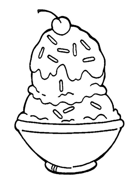 Ice Cream Dish Coloring Page | mickey mouse ice cream coloring pages coloring home