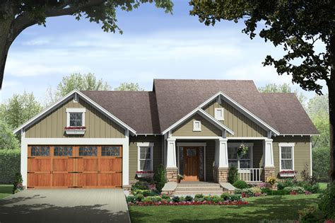 square feet of 3 car garage craftsman style house plan 3 beds 2 baths 1800 sq ft