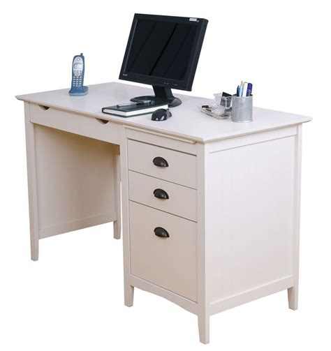 Home Office Desk With Drawers White L Shaped Computer White Desk With Drawers