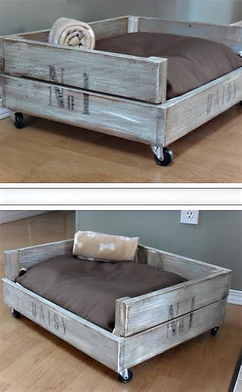 Diy Wood Crate Side Table by 14 Diy Dog Beds Craft Teen