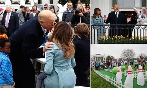 trump praises  lady melania  organizing easter egg