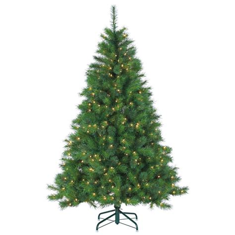 home and gardens prelit trees sterling 6 5 ft pre lit mixed needle wisconsin spruce artificial tree with clear
