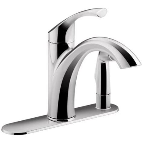 kohler mistos bathroom faucet kohler mistos single handle standard kitchen faucet with side sprayer in polished
