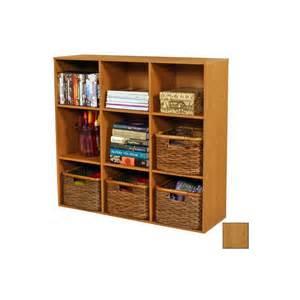 Bookshelves At Lowes Shop Venture Horizon Oak 36 In 9 Shelf Bookcase At Lowes