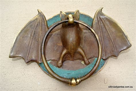 Bat Door Knocker | solid brass small heavy bat door knocker 7 unusual wings