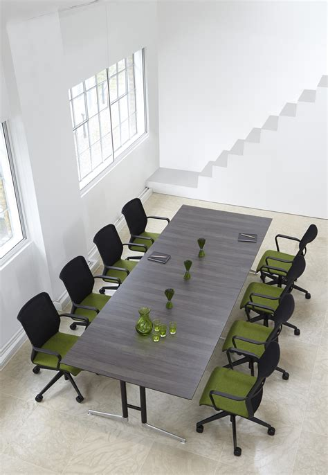 Metal Conference Table Grey Wood Metal Conference Table Ambience Dor 233