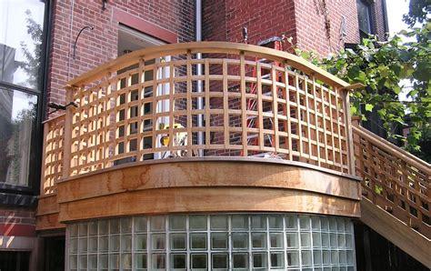 Deck Railing Designs With Lattice - city beautiful carpentry custom lattice teak railing