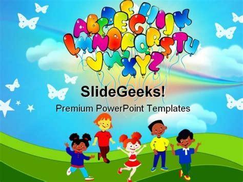 Alphabets02 Education Powerpoint Template 0810 Ppt Template Pinterest Templates Day Care Powerpoint Presentation Templates