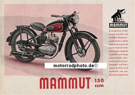 Mammut Motorrad by Motormobilia Mammut Motorrad Prospektblatt