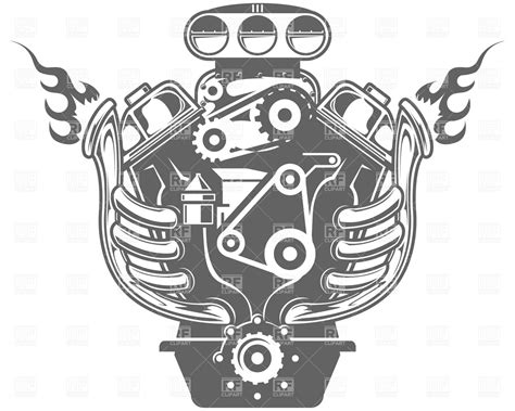 racing engine vector image 4739 rfclipart