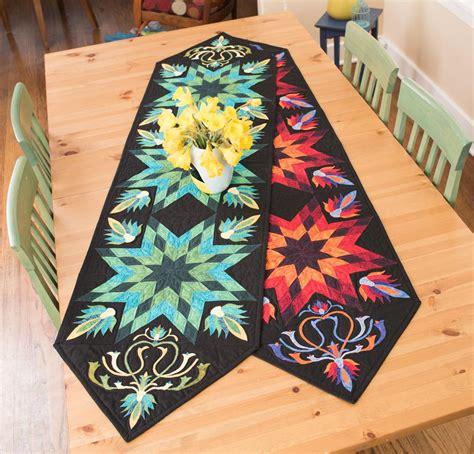 Table Runner Quilt Kits by Rjr Lotus Palette Table Runner Quilt Kit On Craftsy Supplies