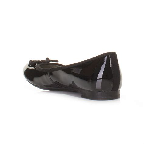 patent flat shoes womens clarks carousel ride black patent flat ballerina