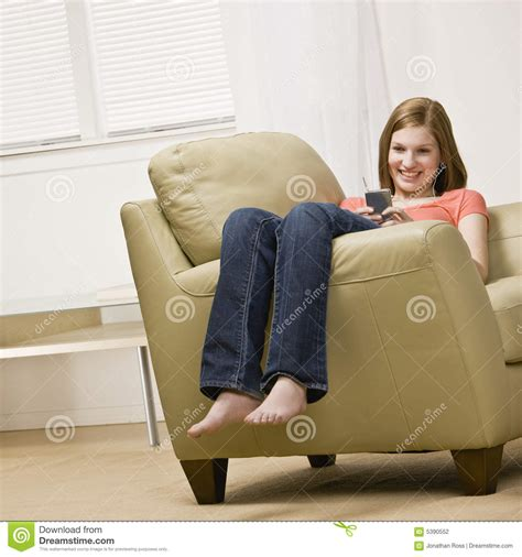 sitting up in my room mp3 listening to mp3 player stock photography image 5390552
