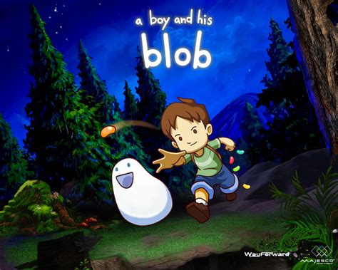 a and his boy a boy and his blob wallpaper