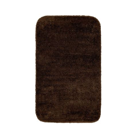 Accent Rugs For Bathroom Garland Rug Traditional Chocolate 30 In X 50 In Washable Bathroom Accent Rug Dec 3050 14 The
