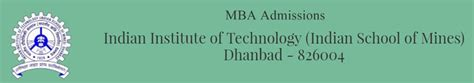 Ism Mba by Indian School Of Mines Ism Mba Admissions 2018