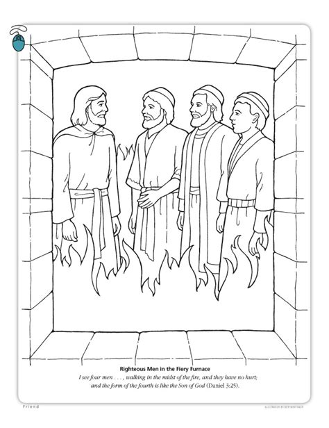 Daniel 3 Coloring Page by Daniel And The Fiery Furnace Coloring Page Lds Coloring