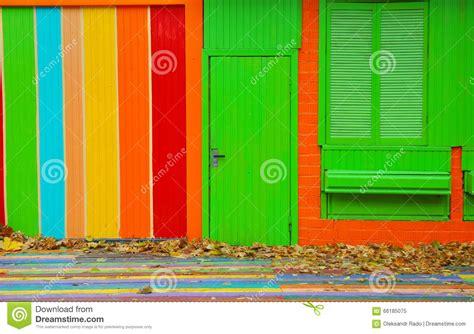colorful door colorful wall and door stock image cartoondealer com