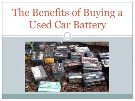 benefits  buying   car battery