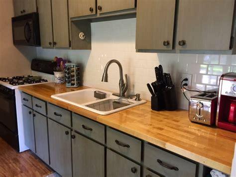 paint over 1970 s fake wood paneling derektime design kitchen refresh on a 500 budget refresh living