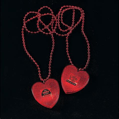 valentines necklaces necklaces with light up