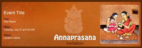 Free Annaprasana invitation with India?s #1 online tool