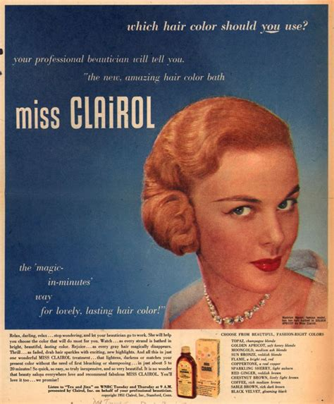 vintage clairol ads on pinterest clairol hair color image gallery miss clairol