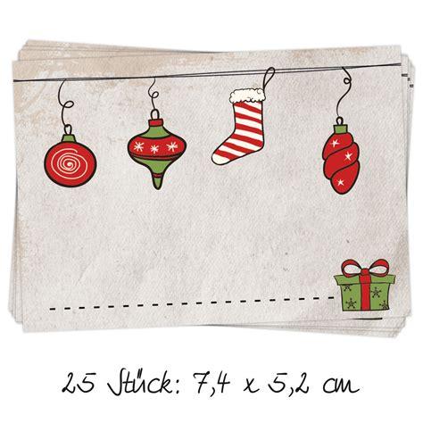 Etiketten Aufkleber Weihnachten by 25 St 252 Ck Aufkleber Etiketten Weihnachten Quot Anh 228 Nger Quot 7 4