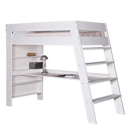 lit superposé avec bureau bureau chambre fille
