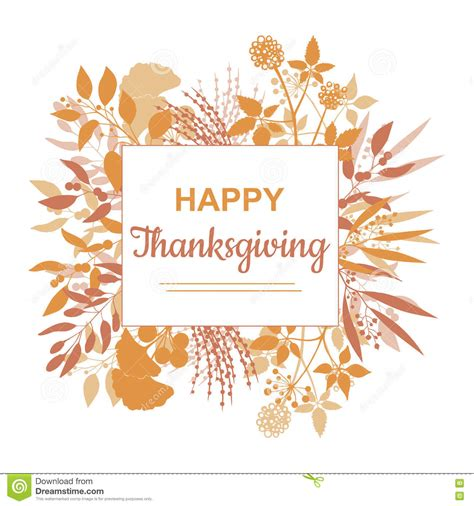 happy thanksgiving card template flat design style happy thanksgiving card template stock