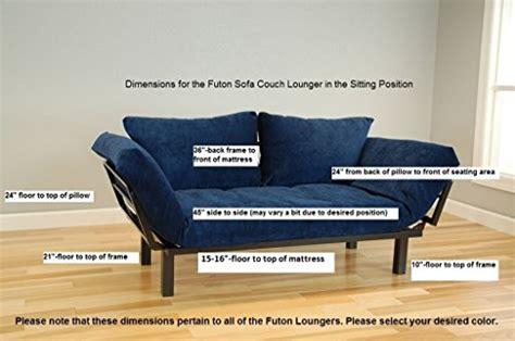 Best Futon For College by Best Futon Lounger Sit Lounge Sleep Smaller Size Furniture