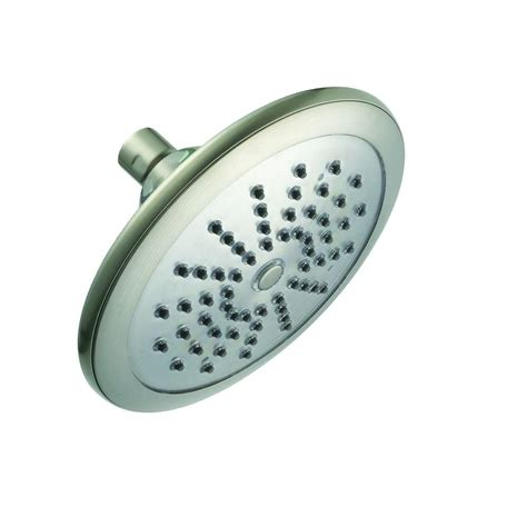 Glacier Bay Led Shower glacier bay water powered led lighted 1 spray 7 in fixed shower in brushed nickel 51901