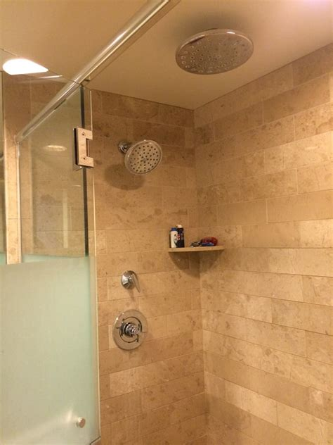 dual shower dual shower heads in our standard room s bathroom yelp