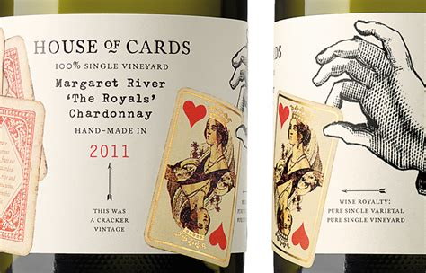 house of cards winery house of cards the dieline packaging branding design innovation news