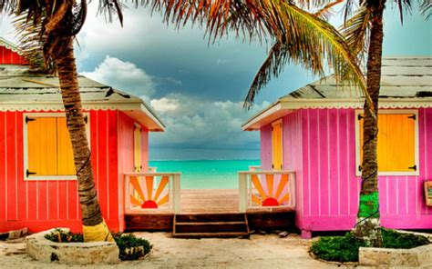 colorful beach houses tvi with peter jarrette hot pink tropical homes houses